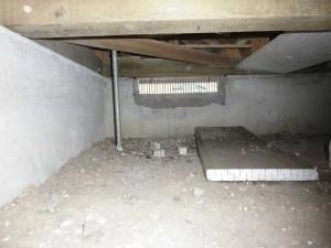 床下 和室床の間下部
